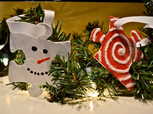 puzzle ornaments frosty swirl