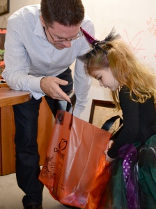 gemma and daddy trick or treat