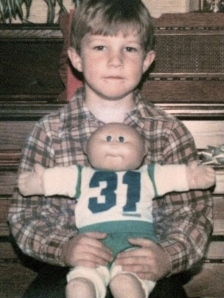 Erik + Arnold Leo (one of the original Cabbage Patch Kids)