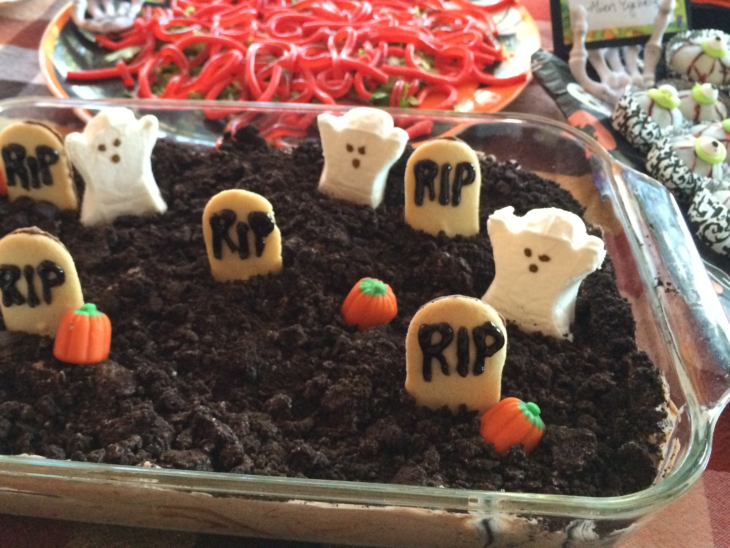 Jello Halloween Graveyard Cake