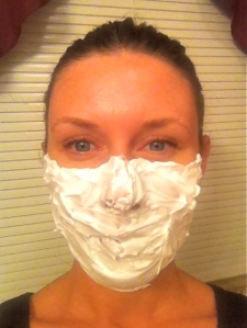 shaving cream mask