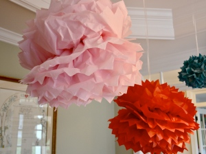 tissue paper garland for tea party 2