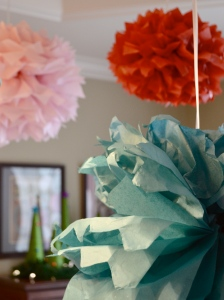 tissue paper garland for tea party 1