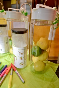 infusers and citrus fruits